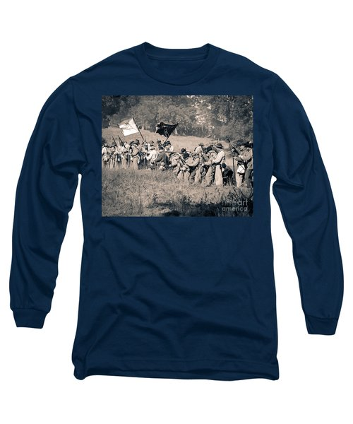 Gettysburg Confederate Infantry 9281s Long Sleeve T-Shirt