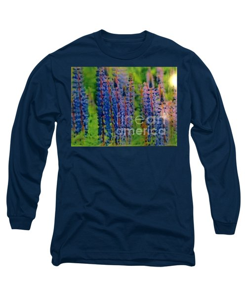 Long Sleeve T-Shirt featuring the painting  Lois Love Of Lupine by FeatherStone Studio Julie A Miller