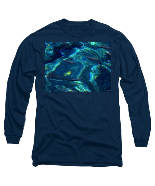 Long Sleeve T-Shirt featuring the photograph  Santorini  Ocean Water Reflections Greece by Colette V Hera  Guggenheim