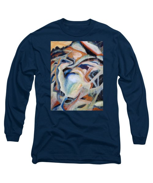 Long Sleeve T-Shirt featuring the painting 01317 Process by AnneKarin Glass