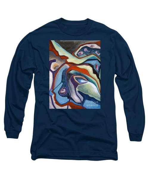 Long Sleeve T-Shirt featuring the painting 01318 Maybe by AnneKarin Glass