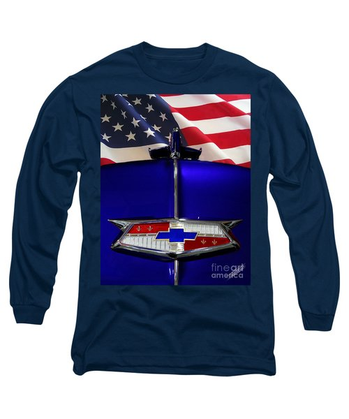 1954 Chevrolet Hood Emblem Long Sleeve T-Shirt
