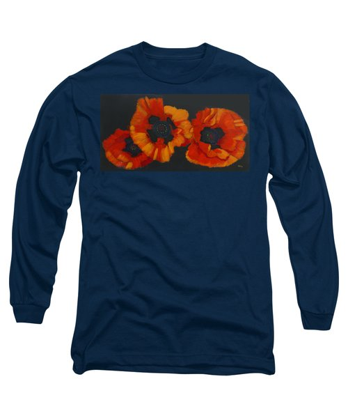 3 Poppies Long Sleeve T-Shirt