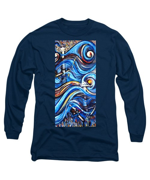 Long Sleeve T-Shirt featuring the painting A Ray Of Hope 4 by Harsh Malik