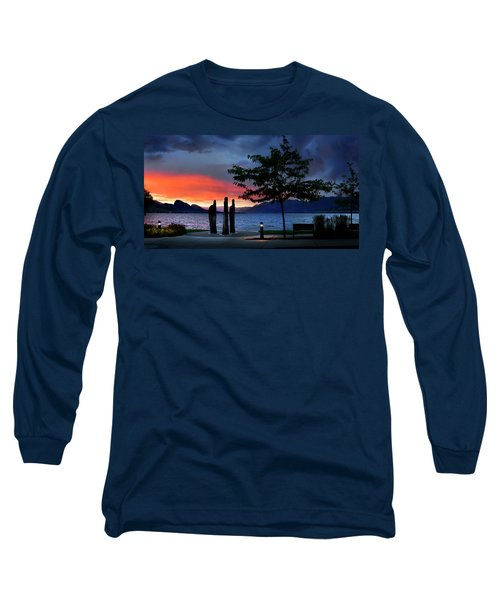 Long Sleeve T-Shirt featuring the photograph A Sunset Story by John Poon