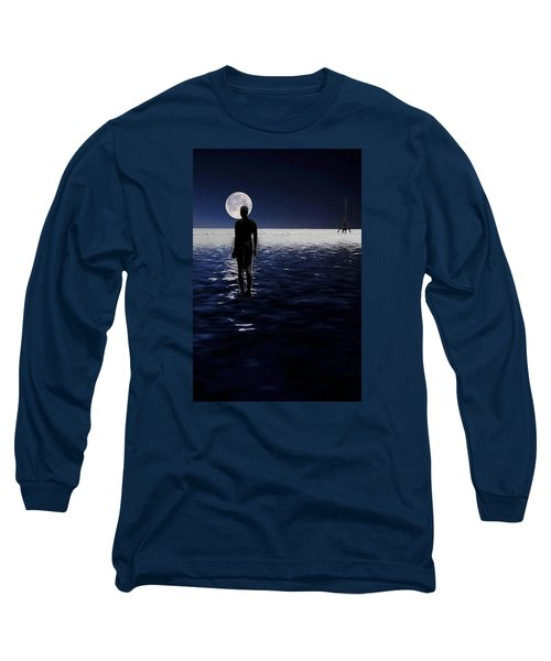 Antony Gormley Statues Crosby Long Sleeve T-Shirt by David French