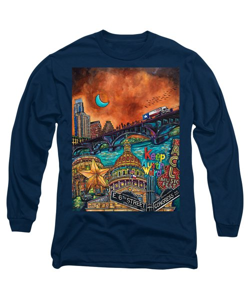 Austin Montage Long Sleeve T-Shirt by Patti Schermerhorn