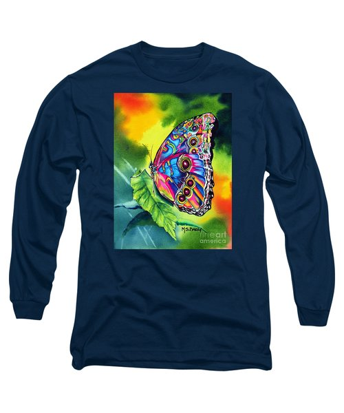 Beatrice Butterfly Long Sleeve T-Shirt by Maria Barry
