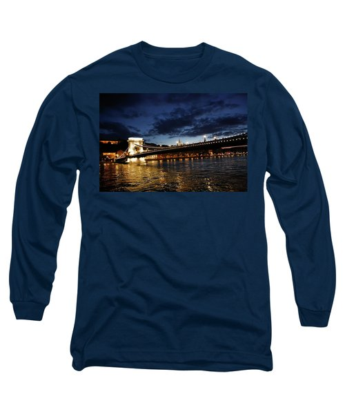 Blue Danube Sunset Budapest Long Sleeve T-Shirt