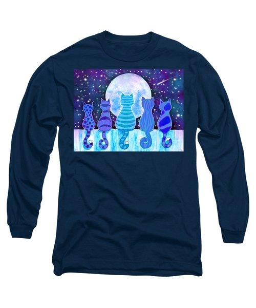 Blue Moon Cats Long Sleeve T-Shirt