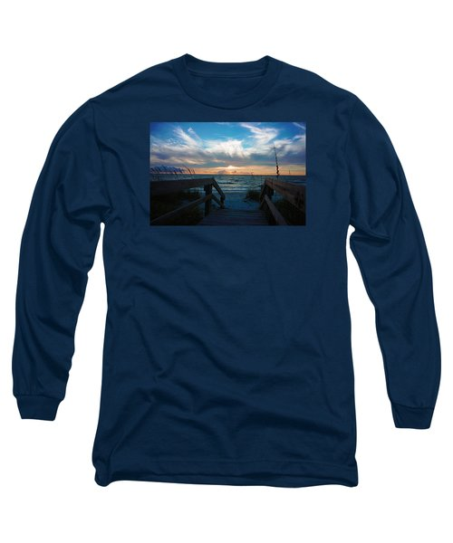 Long Sleeve T-Shirt featuring the photograph Boardwalk At Delnor-wiggins Pass State Park by Robb Stan