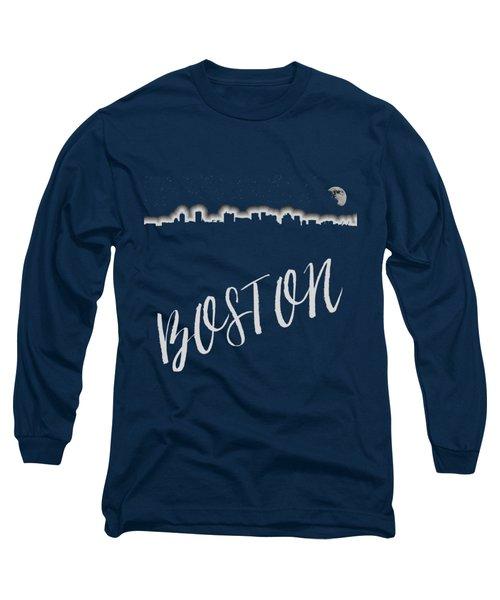 Boston Skyline Poster Long Sleeve T-Shirt