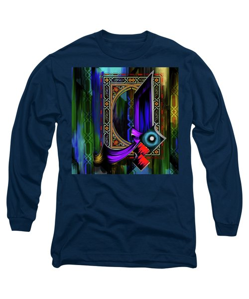 Long Sleeve T-Shirt featuring the painting Calligraphy 100 1 by Mawra Tahreem