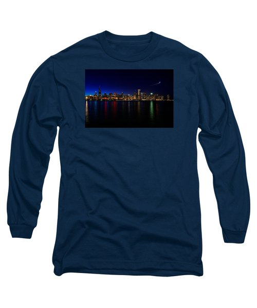 Long Sleeve T-Shirt featuring the photograph Chicago-skyline 3 by Richard Zentner
