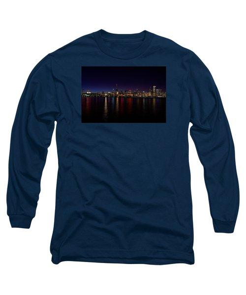Chicago-skyline Long Sleeve T-Shirt