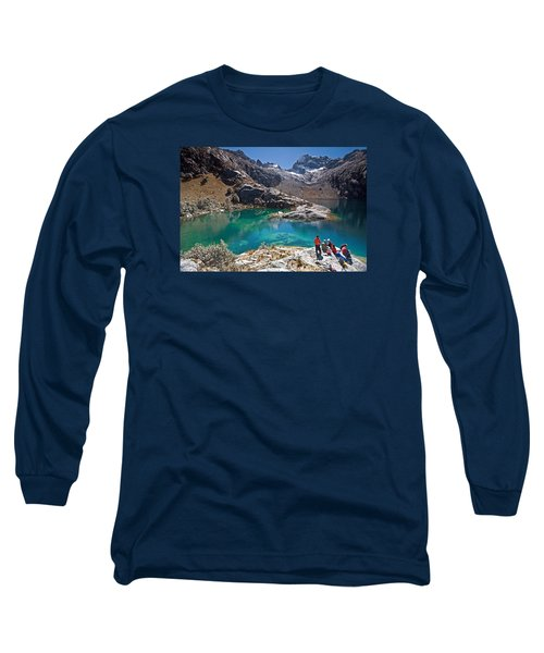 Churup Lake Long Sleeve T-Shirt by Aivar Mikko