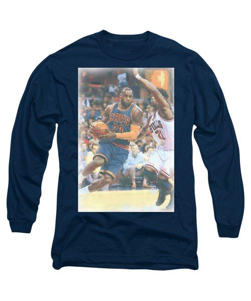 Cleveland Cavaliers Lebron James 2 Long Sleeve T-Shirt by Joe Hamilton