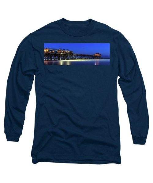 Cocoa Beach Pier At Twilight Long Sleeve T-Shirt