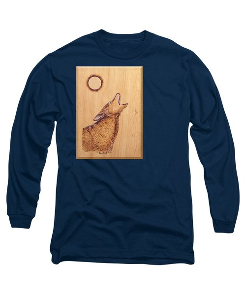 Coyote Long Sleeve T-Shirt by Ron Haist