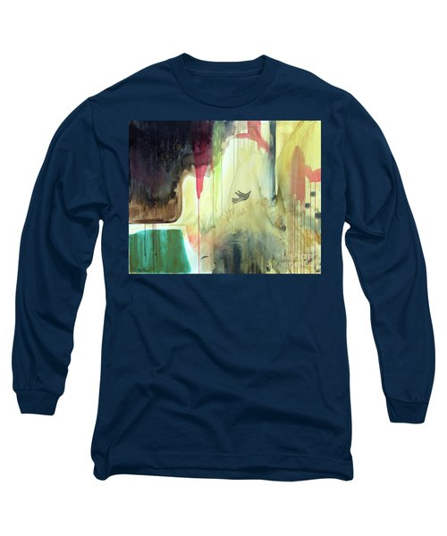 Long Sleeve T-Shirt featuring the painting Envisage by Robin Maria Pedrero