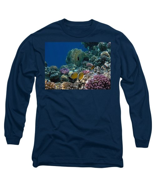 Exquisite Butterflyfish In The Red Sea Long Sleeve T-Shirt