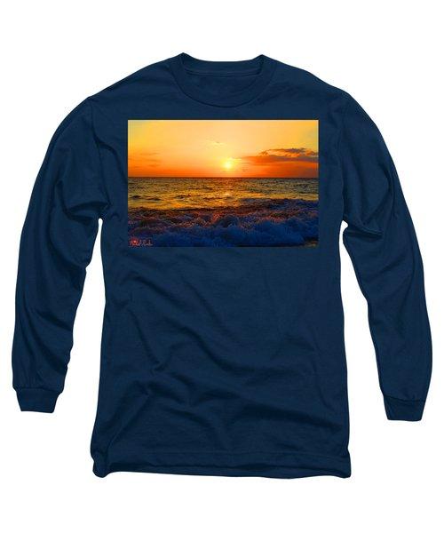 Hawaiian Sunset Long Sleeve T-Shirt by Michael Rucker