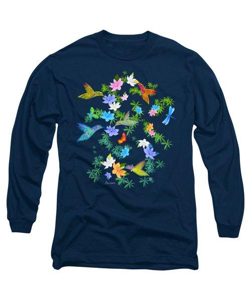 Hummingbird Spring Long Sleeve T-Shirt by Teresa Ascone