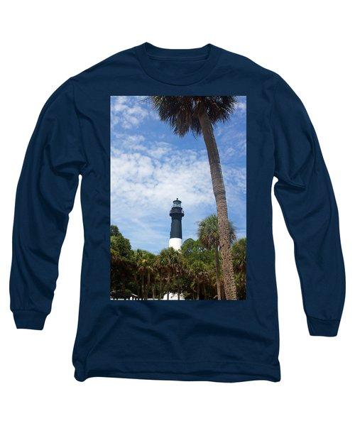 Hunting Island Lighthouse Long Sleeve T-Shirt