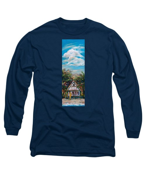 Island Bungalow Long Sleeve T-Shirt by Linda Olsen
