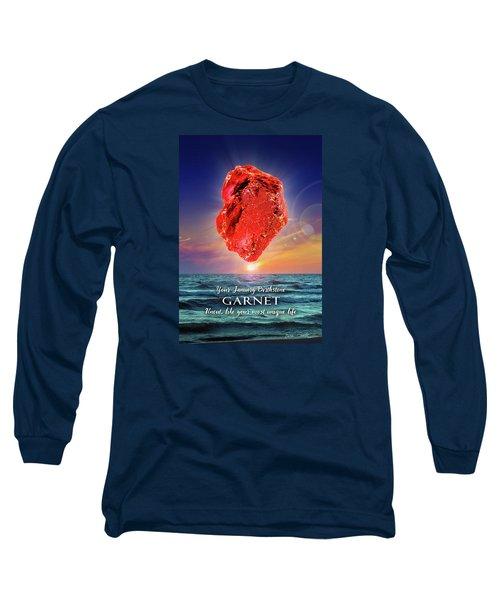 January Birthstone Garnet Long Sleeve T-Shirt