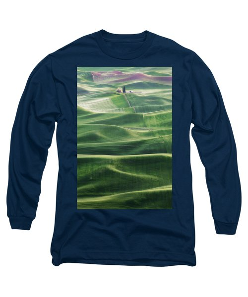 Land Waves Long Sleeve T-Shirt by Ryan Manuel