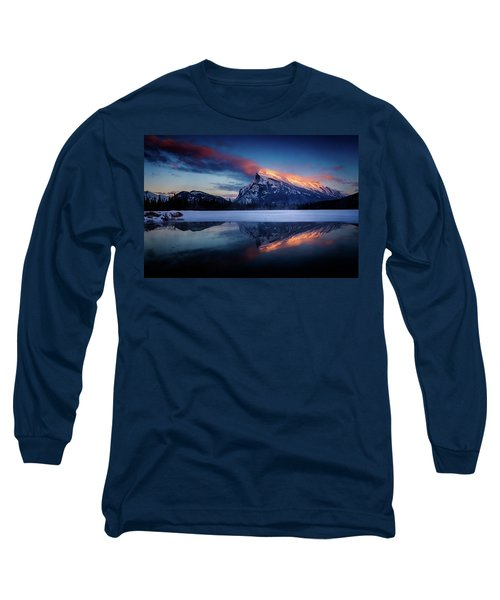 Last Light On Mount Rundle Long Sleeve T-Shirt