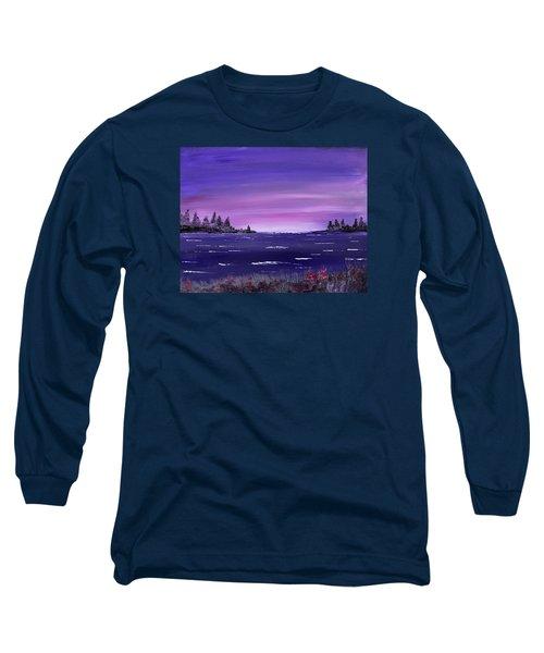 Lavender Sunrise Long Sleeve T-Shirt by Jack G Brauer