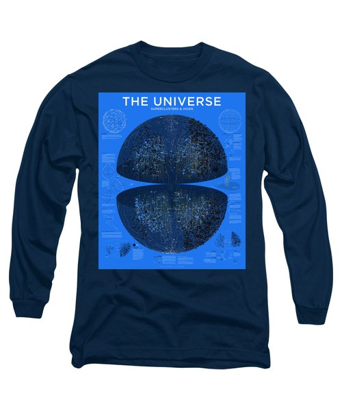 Map Of The Entire Universe Superclusters And Voids Long Sleeve T-Shirt