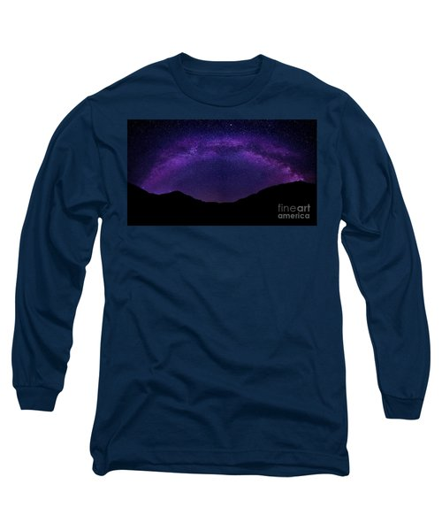 Long Sleeve T-Shirt featuring the photograph milky way above the Alps by Hannes Cmarits