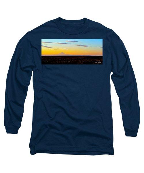 Mt. Adams Sunset Long Sleeve T-Shirt
