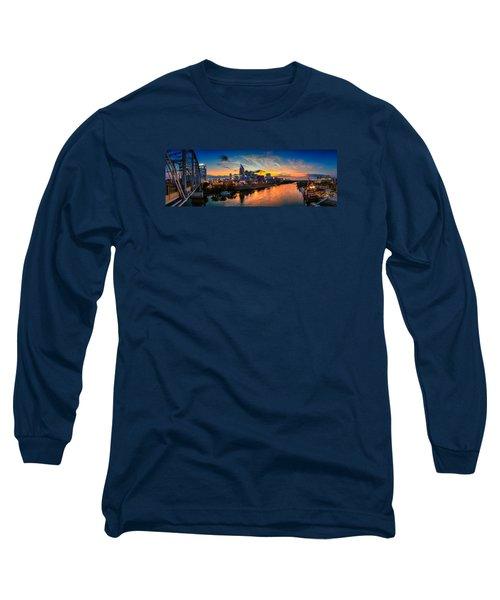 Nashville Skyline Panorama Long Sleeve T-Shirt