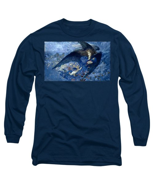 Night With Her Train Of Stars Long Sleeve T-Shirt
