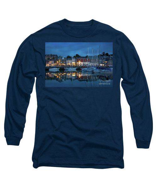 Long Sleeve T-Shirt featuring the photograph Padstow Evening by Brian Jannsen