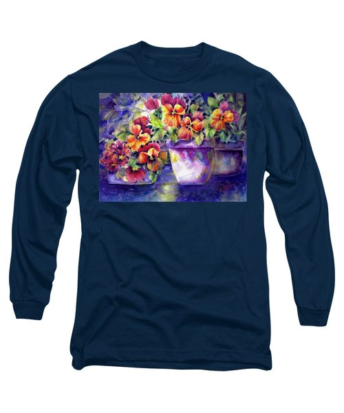 Patio Pansies Long Sleeve T-Shirt