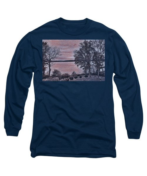 Long Sleeve T-Shirt featuring the painting Pennsylvania Landscape by Joan Reese
