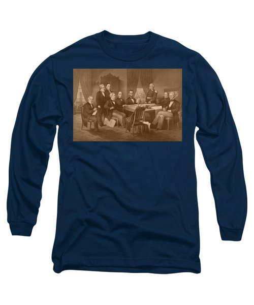 President Lincoln - His Cabinet And General Scott Long Sleeve T-Shirt