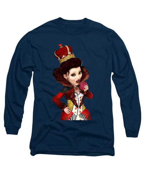 Queen Of Hearts Portrait Long Sleeve T-Shirt
