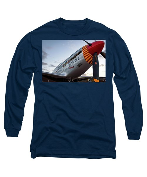 Red Tail At Dusk - 2017 Christopher Buff, Www.aviationbuff.com Long Sleeve T-Shirt