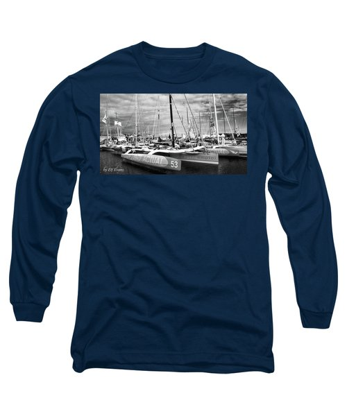 Long Sleeve T-Shirt featuring the photograph Route Du Rhum Ready by Elf Evans