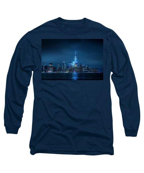 Skyline At Night Long Sleeve T-Shirt