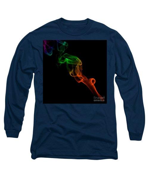Long Sleeve T-Shirt featuring the photograph smoke XXXIII by Joerg Lingnau