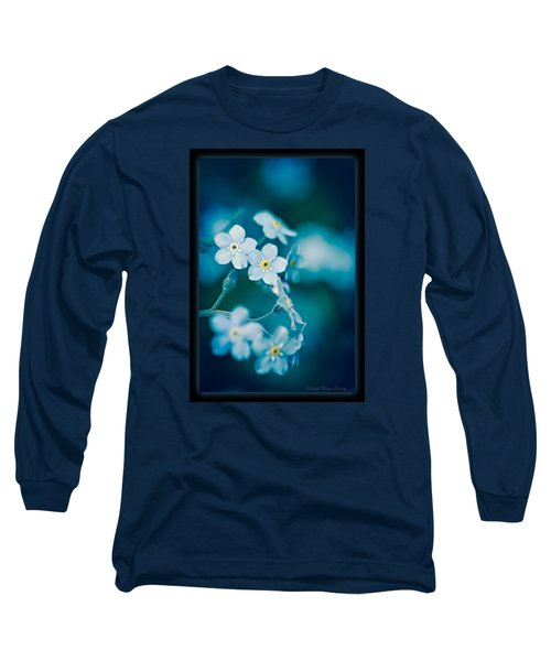 Soft Blue Long Sleeve T-Shirt by Michaela Preston