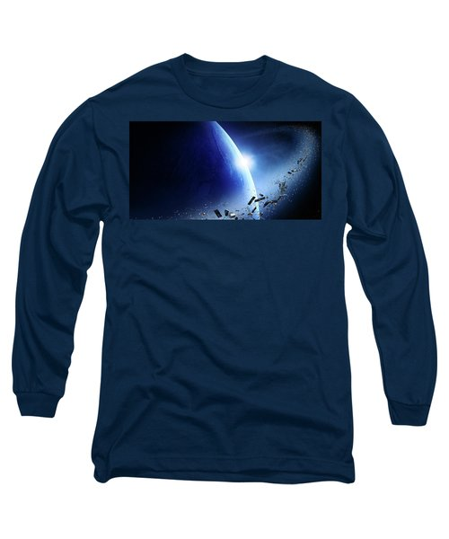 Space Junk Orbiting Earth Long Sleeve T-Shirt