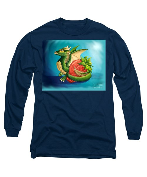 Long Sleeve T-Shirt featuring the painting Strawberry Dragon by Mary Hoy